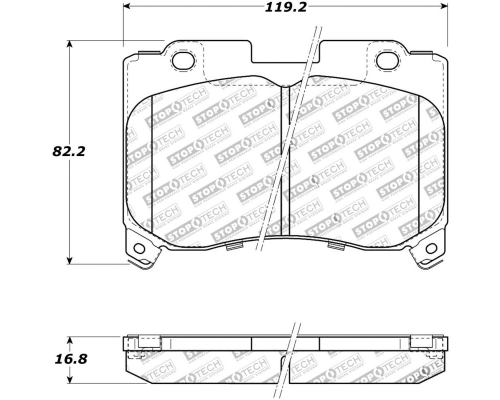 StopTech 308.0629 Street Brake Pads with Shims/Hardware Toyota Supra Front 1993-1998