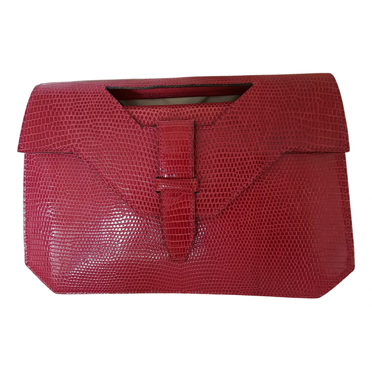 Non Signé / Unsigned \N Pink Lizard Clutch bag for Women \N