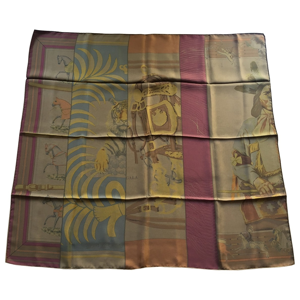 Hermès Carré 90 Brown Silk Silk handkerchief for Women \N