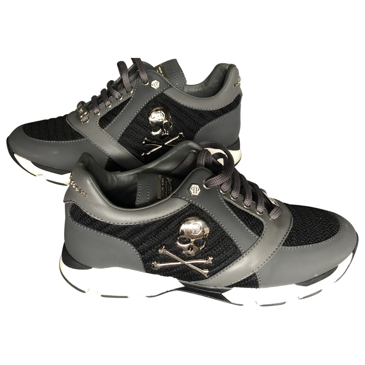 Philipp Plein \N Grey Leather Trainers for Men 9 UK