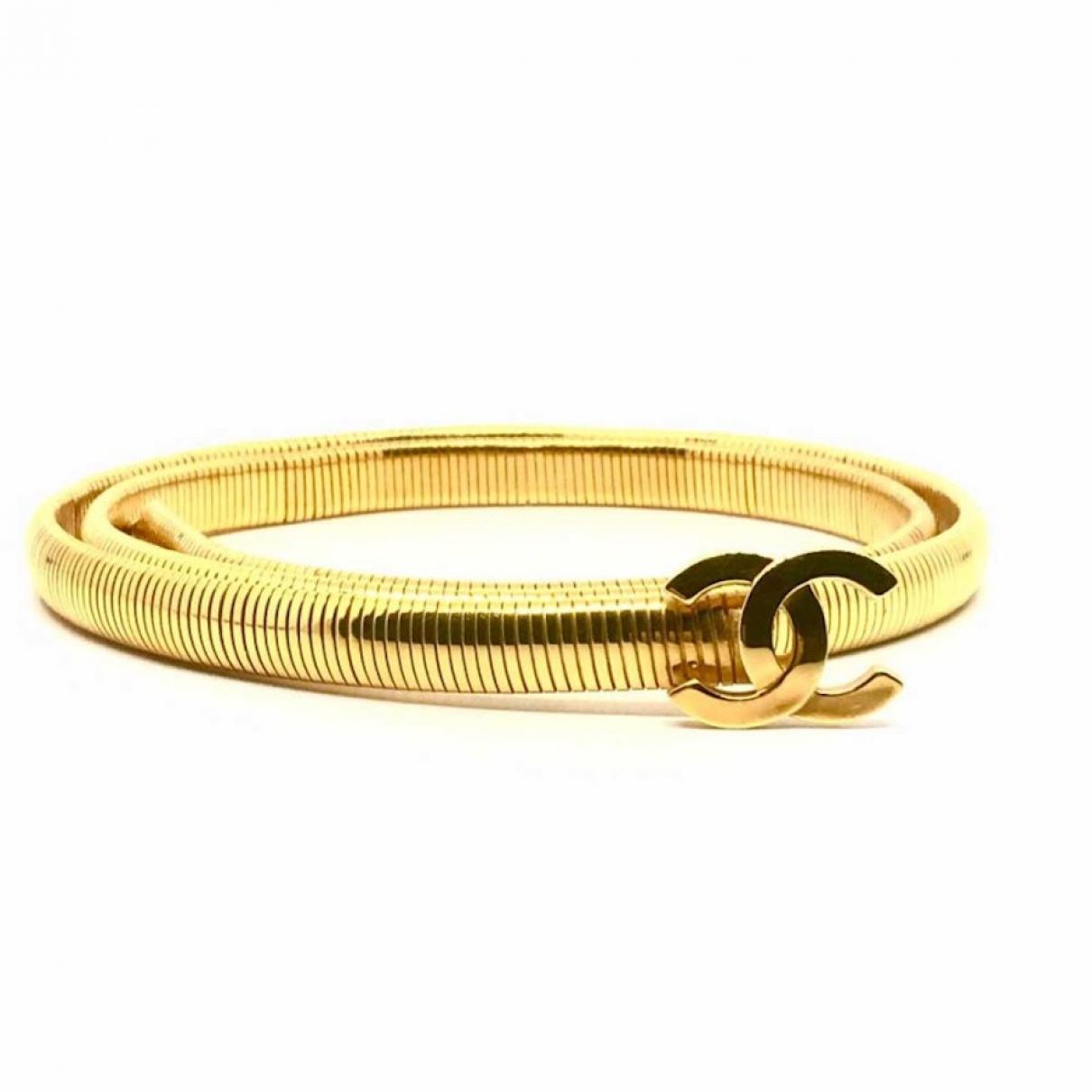 Chanel \N Gold Metal belt for Women XS International