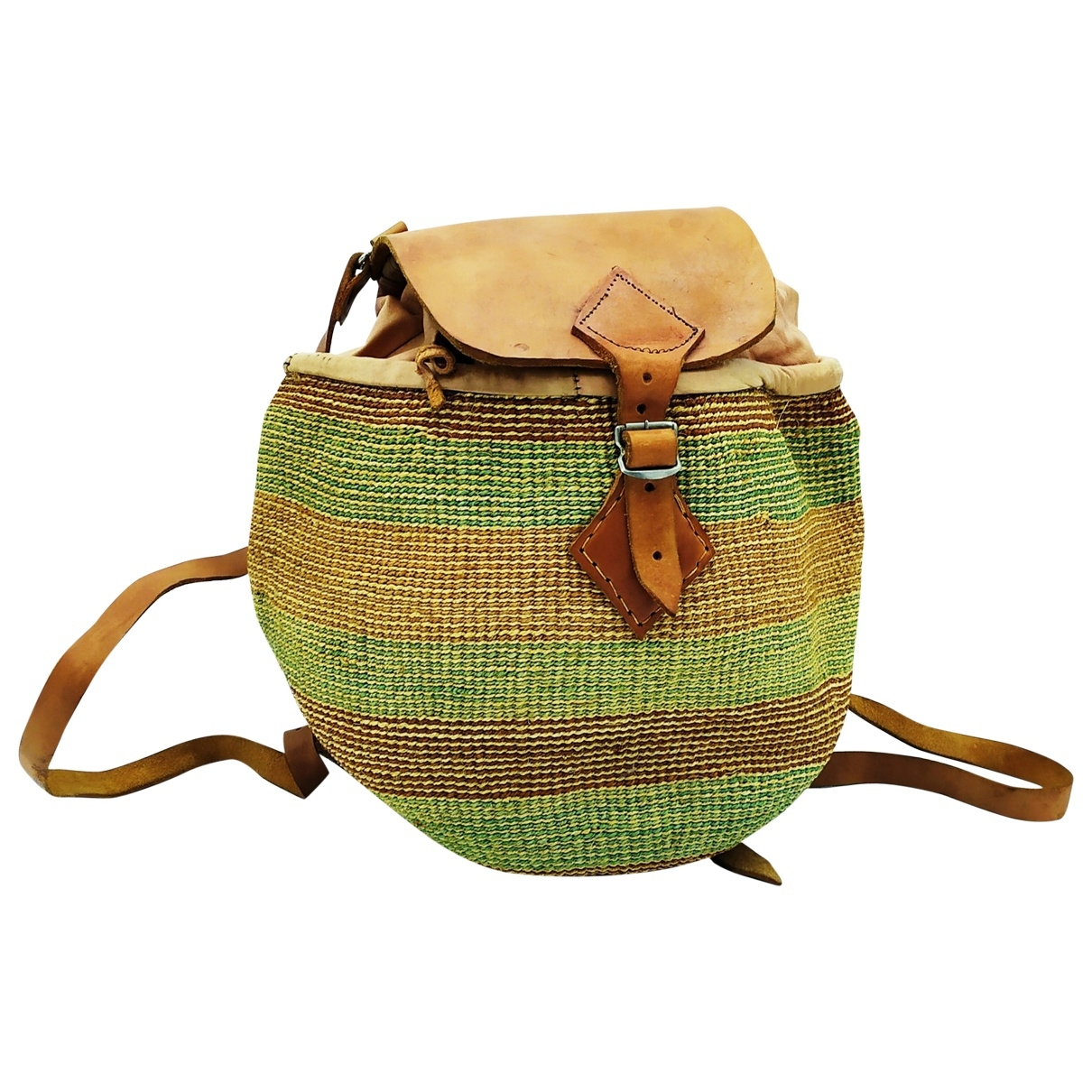 Non Signé / Unsigned \N Brown Wicker backpack for Women \N