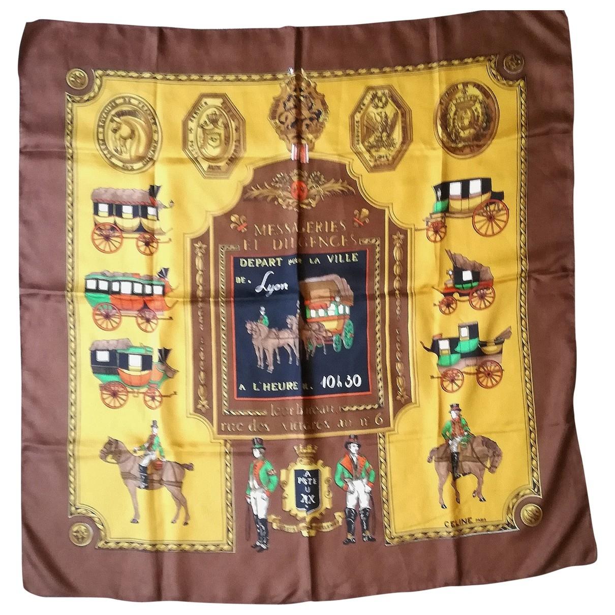 Celine \N Brown Silk Silk handkerchief for Women \N