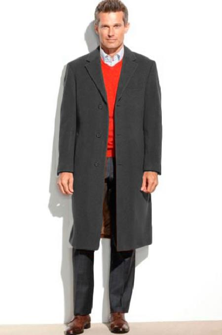 Mens 0.65Wool length Over&Topcoat (Cashmere Touch(not cashmere)) Black