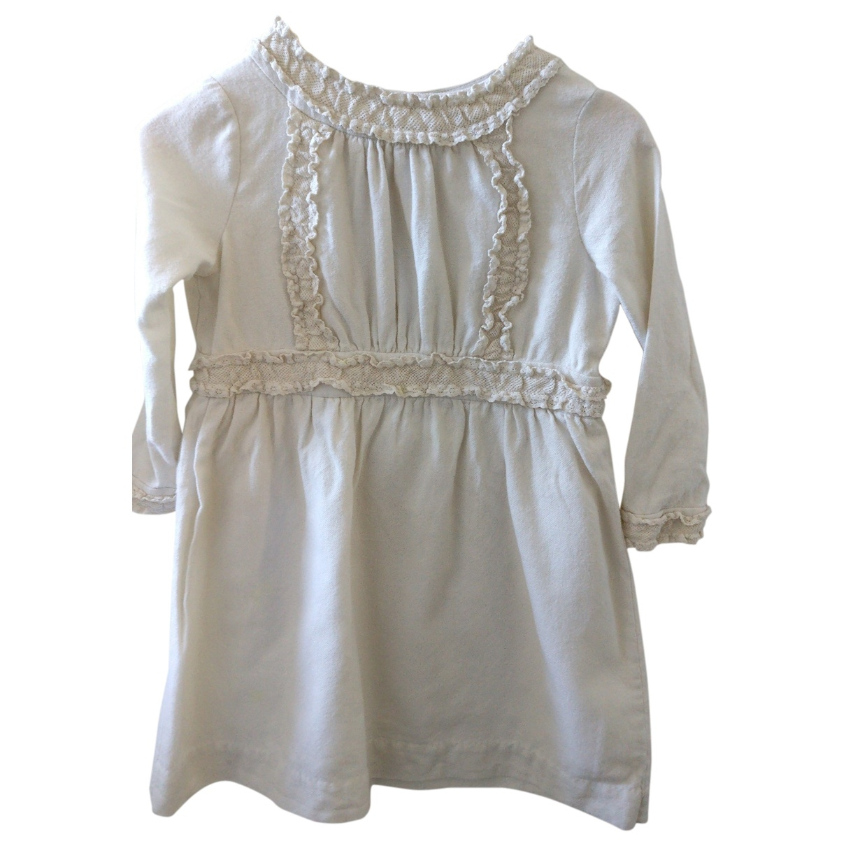 Bonpoint \N White Cotton dress for Kids 4 years - up to 102cm FR