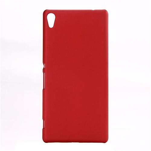 Back Case Ultra-thin Silky Smooth Protective Phone Cover Back Shell For Sony Xperia C6 Smartphone - Red