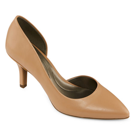 east 5th Womens Daven Closed Toe Stiletto Heel Pumps, 8 Medium, Beige