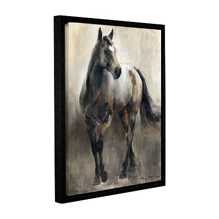 Brushstone Copper and Nickel Gallery Wrapped Floater-Framed Canvas Wall Art, One Size , Brown