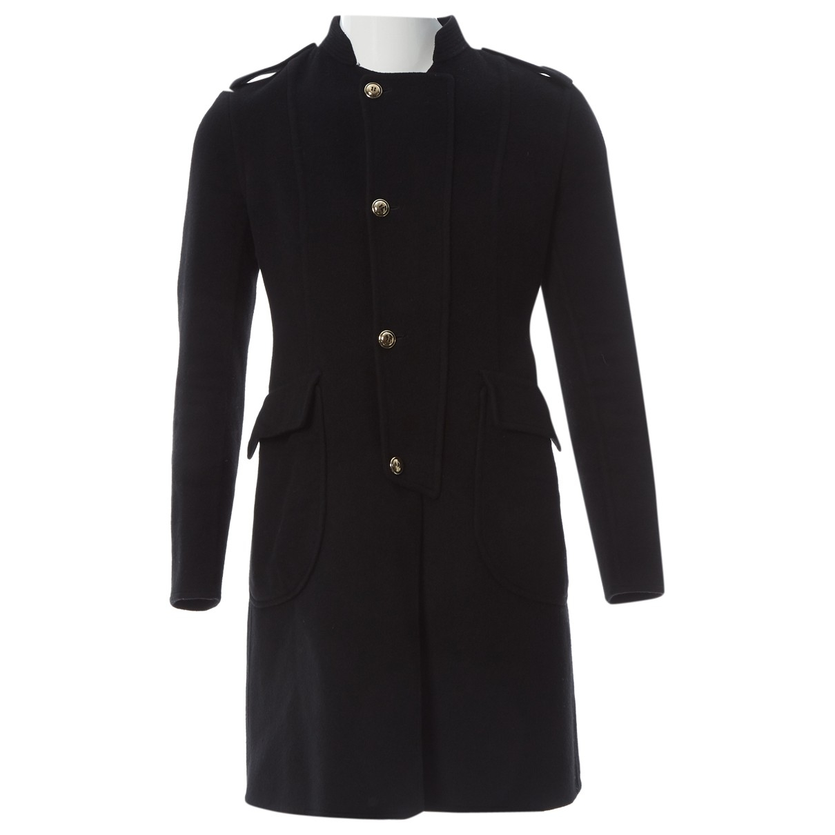 Yves Saint Laurent \N Black Wool coat for Women L International