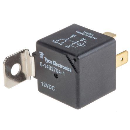 TE Connectivity , 12V dc Coil Automotive Relay SPDT Panel Mount Single Pole
