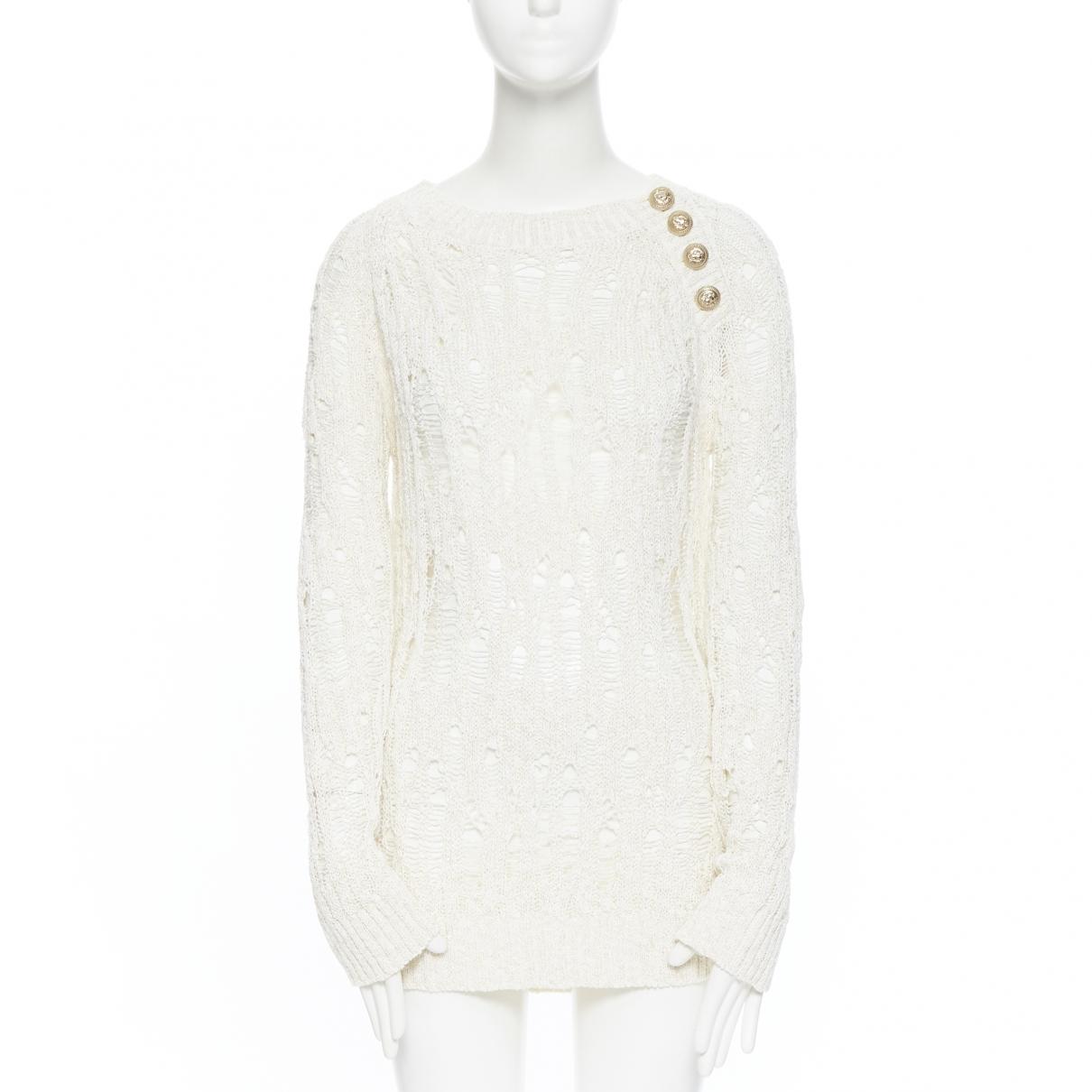 Balmain \N Beige Cotton Knitwear for Women 42 FR
