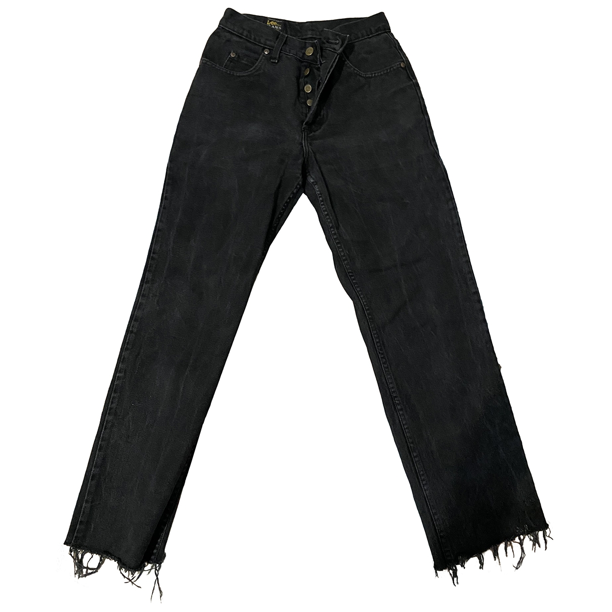 Lee \N Black Denim - Jeans Jeans for Women 32 US