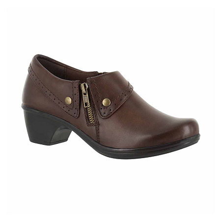 Easy Street Womens Darcy Slip-On Shoe, 6 Medium, Brown