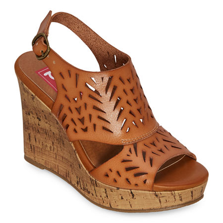 Pop Womens Madesh Wedge Sandals, 11 Medium, Brown