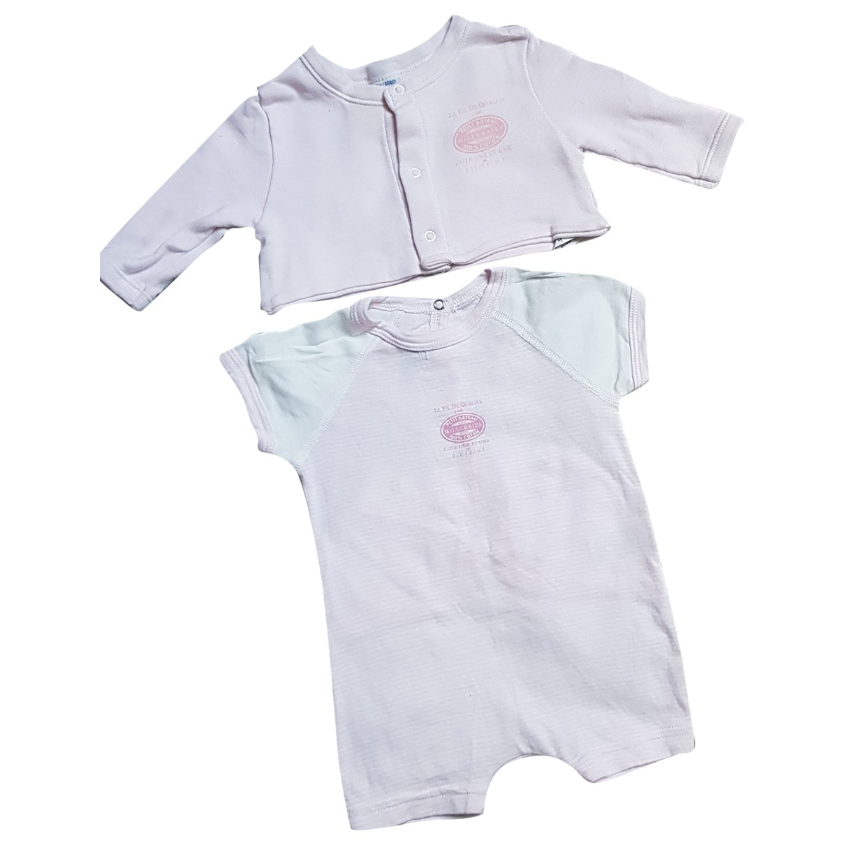 Petit Bateau \N Pink Cotton Outfits for Kids 3 months - up to 60cm FR