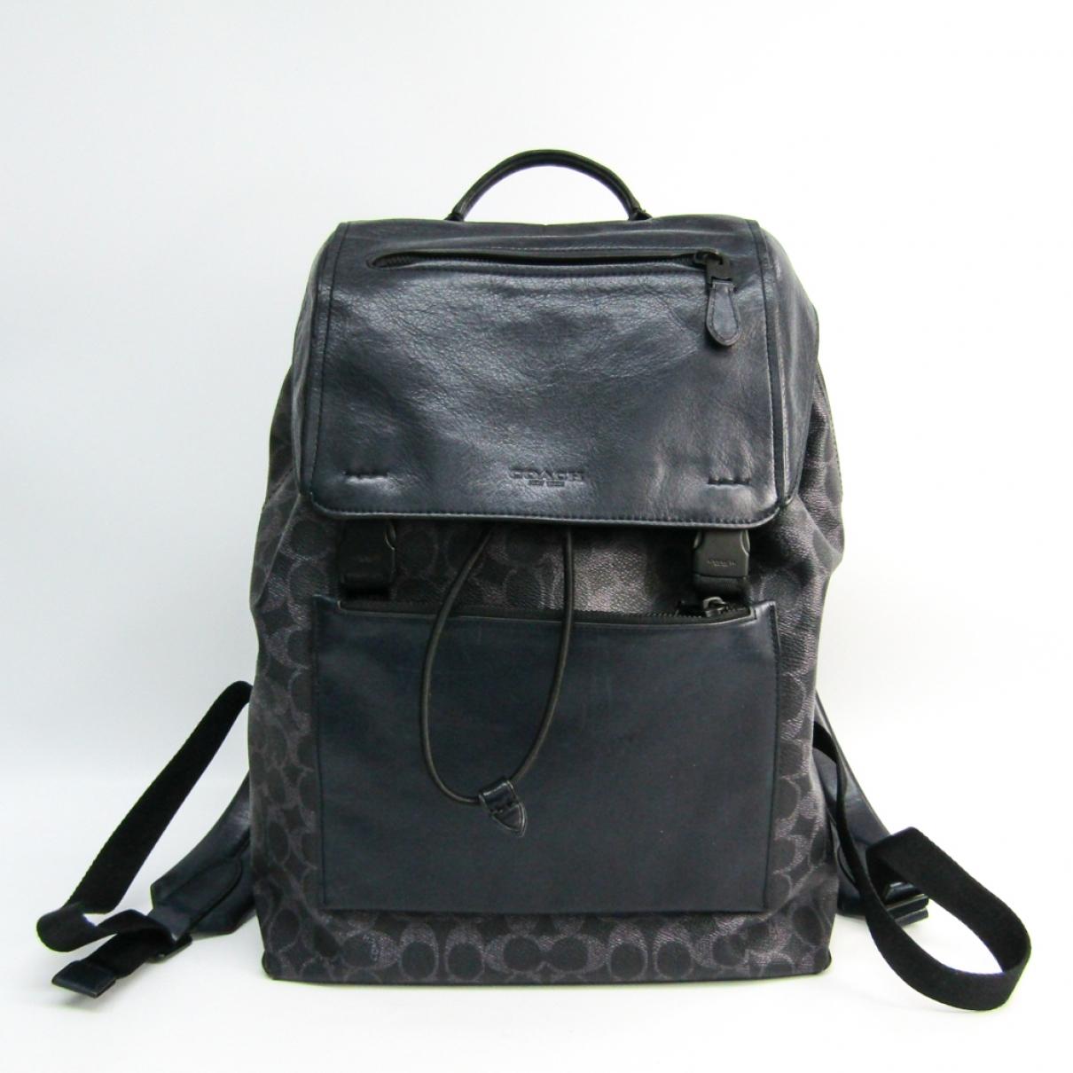 Coach \N Black Leather bag for Men \N