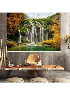 3D Autumn Theme Waterfall Printed Blackout Curtain Roller Shade