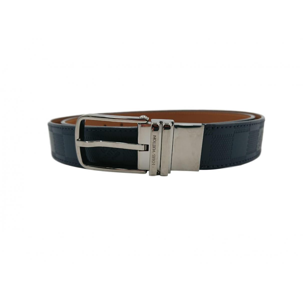 Louis Vuitton \N Navy Leather belt for Men 100 cm