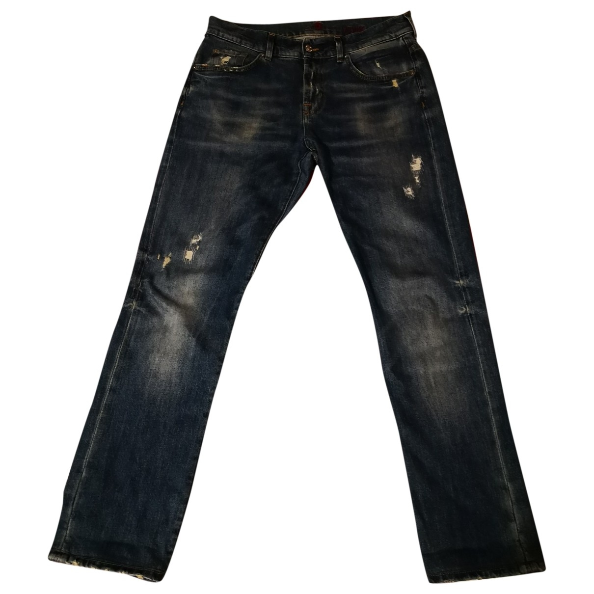 7 For All Mankind \N Blue Cotton Jeans for Men 30 US