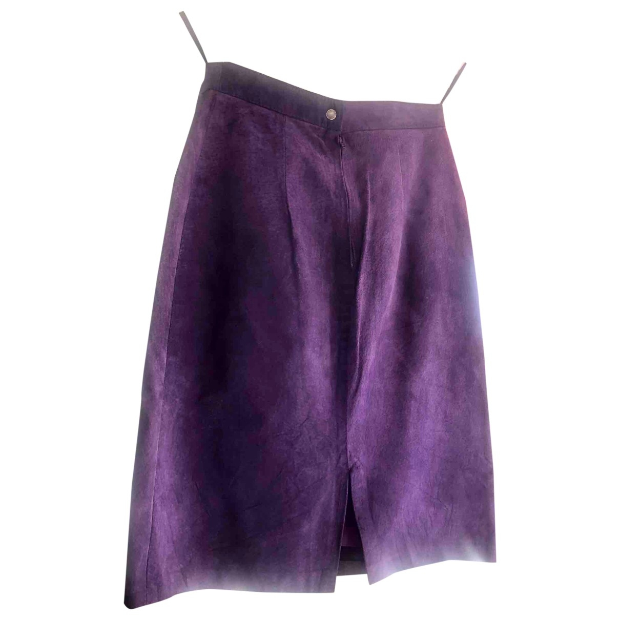 Non Signé / Unsigned \N Purple Leather skirt for Women XS International