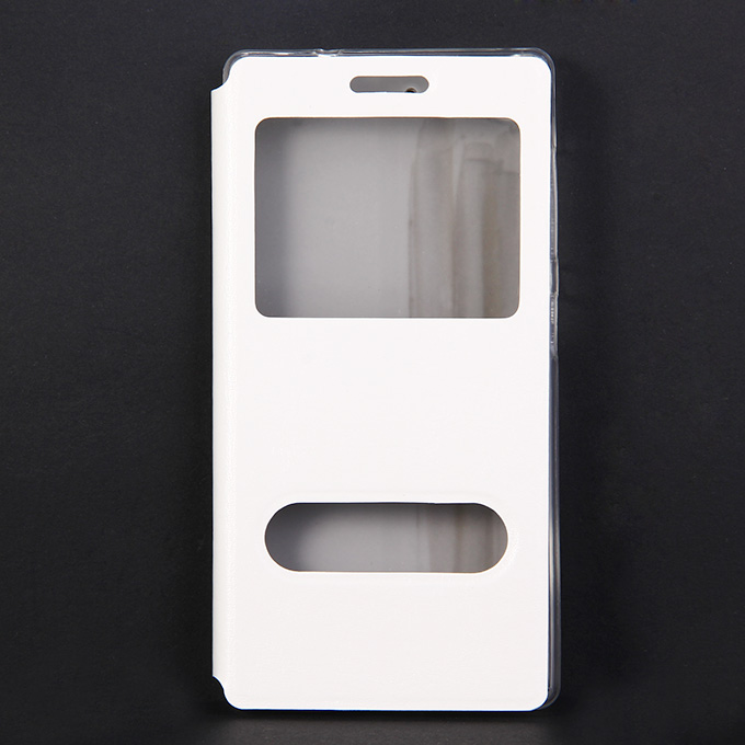 Protective Cover Flip Stand Leather Case for Lenovo Vibe X2 High Quality - White