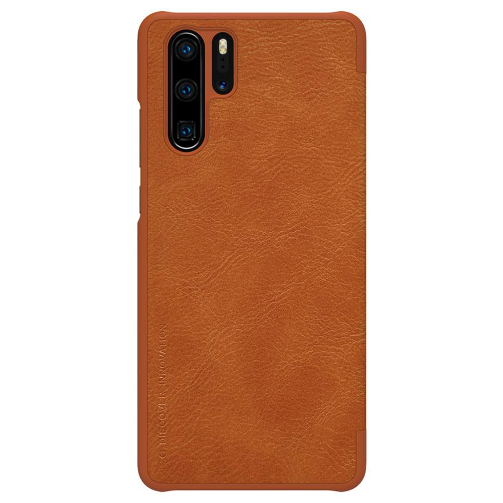 NILLKIN Protective Leather Phone Case For HUAWEI P30 Pro Smartphone - Brown
