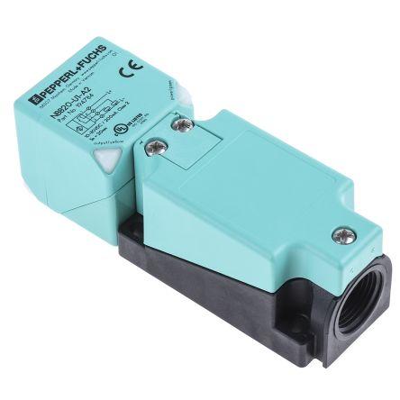 Pepperl + Fuchs Inductive Sensor - Block, PNP-NO/NC Output, 20 mm Detection, IP68, IP69K, M20 Gland Terminal