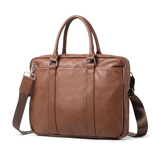 Microfibe Business 13.3 Inch Laptop Bag Handbag Crossbody Bag Briefcase For Men