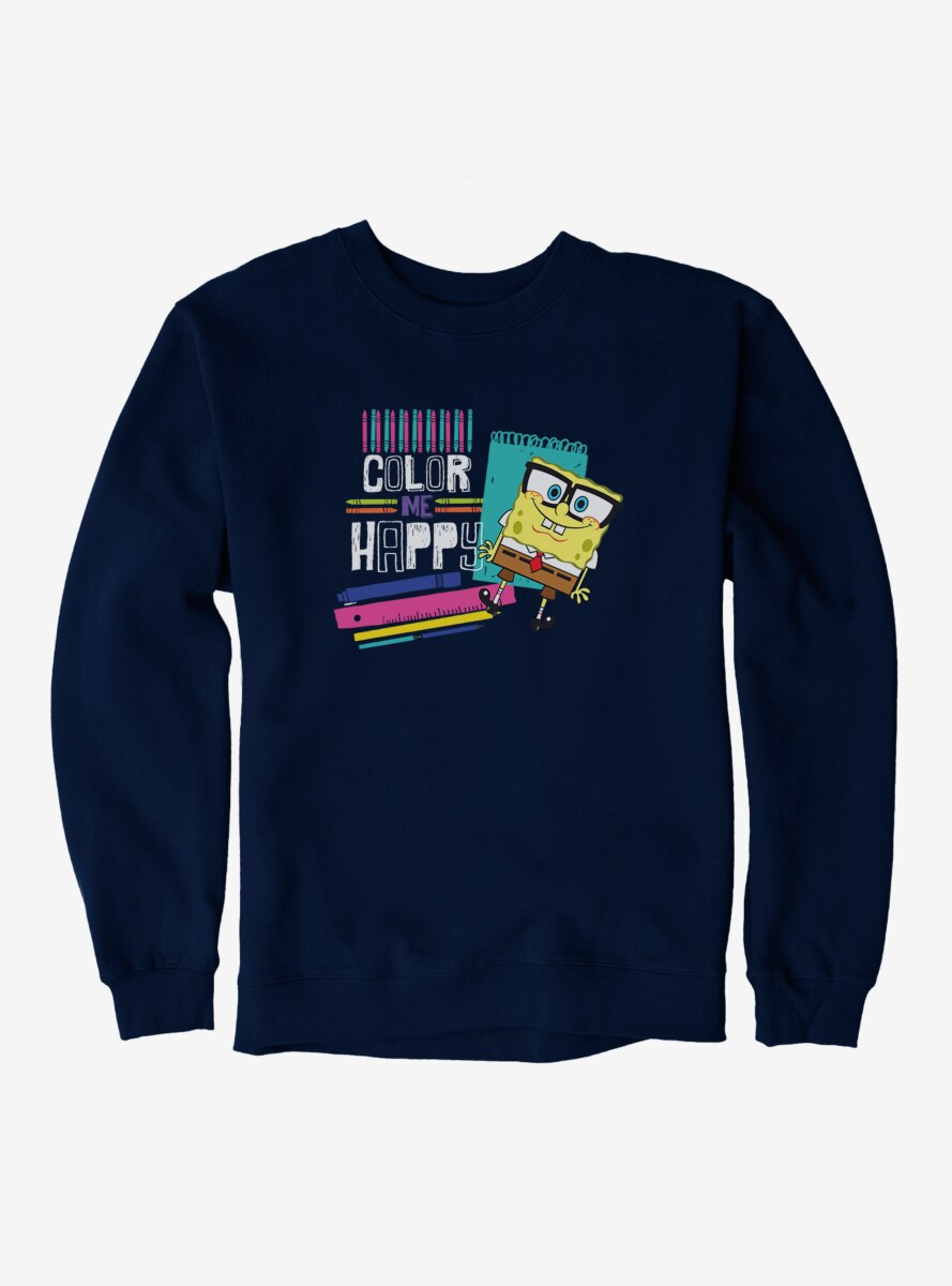 SpongeBob SquarePants Color Me Happy Sweatshirt