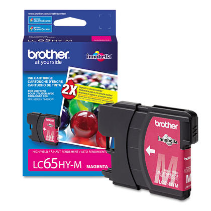 Brother LC65HY-M - LC65 Original Magenta Ink Cartridge (LC65M), High Yield Version of LC61M