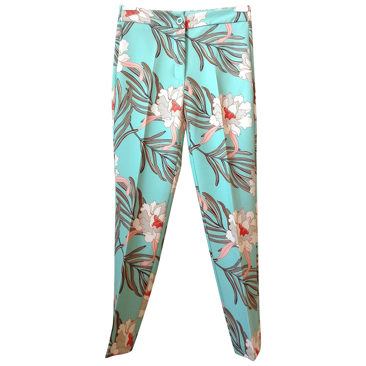 Non Signé / Unsigned \N Green Cotton Trousers for Women S International