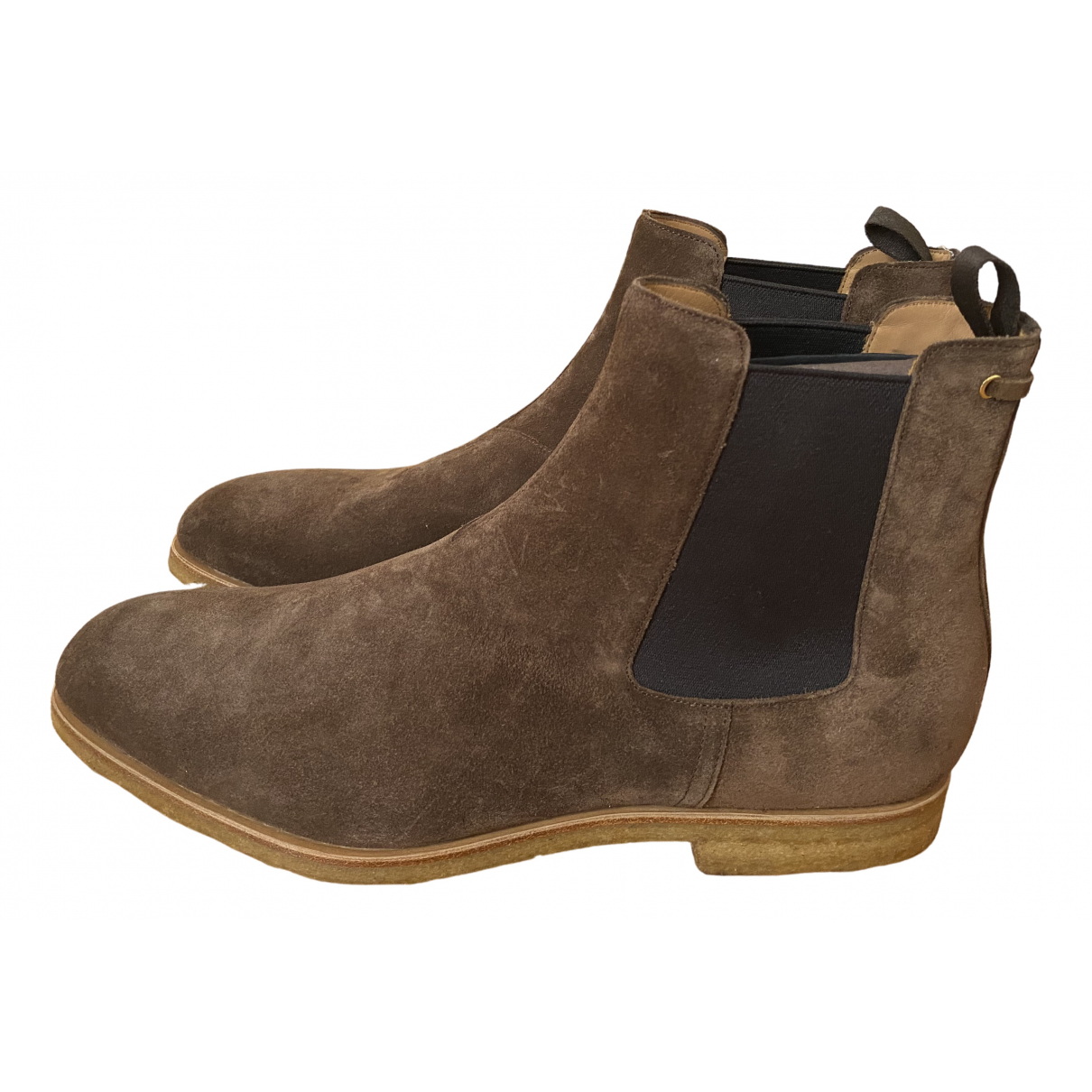 Carshoe \N Brown Suede Boots for Men 11 UK