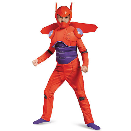 Big Hero 6: Baymax Deluxe Muscle Child Costume, Large (12/14) , Red