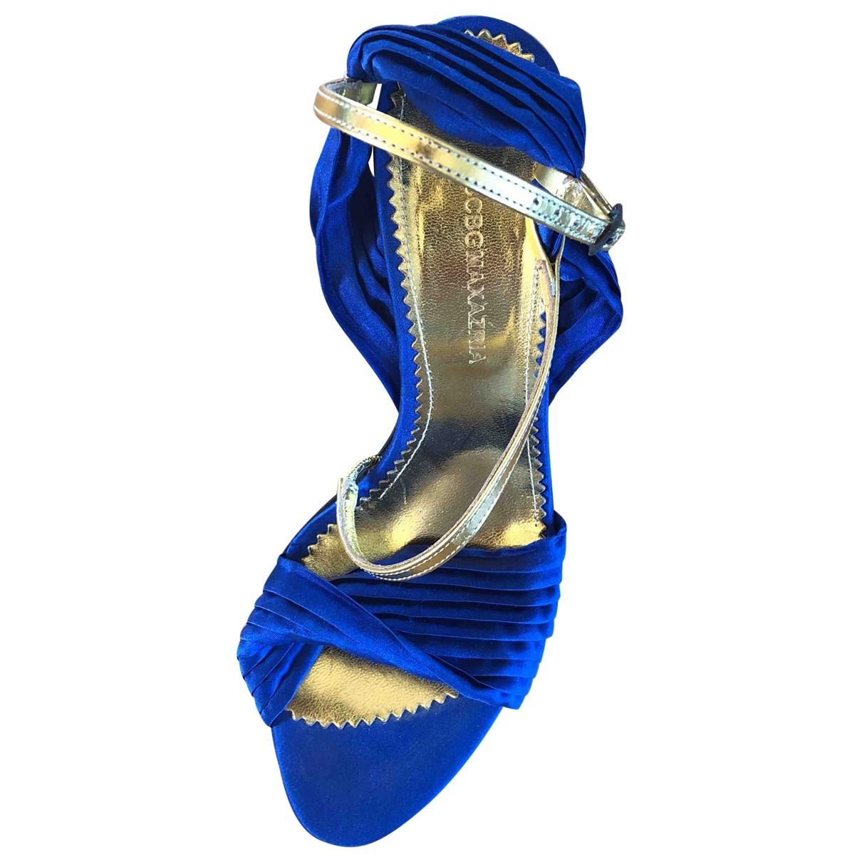 Bcbg Max Azria \N Blue Leather Heels for Women 37.5 EU