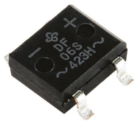 Vishay DF06S-E3/77, Bridge Rectifier, 1A 600V, 4-Pin DF-S (20)