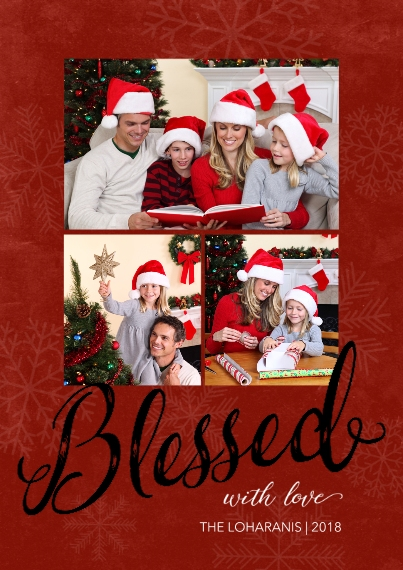 Christmas Photo Cards Set of 20, Premium 5x7 Foil Card, Card & Stationery -Blessed