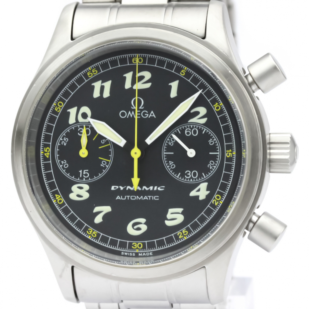 Omega \N Black Steel watch for Men \N