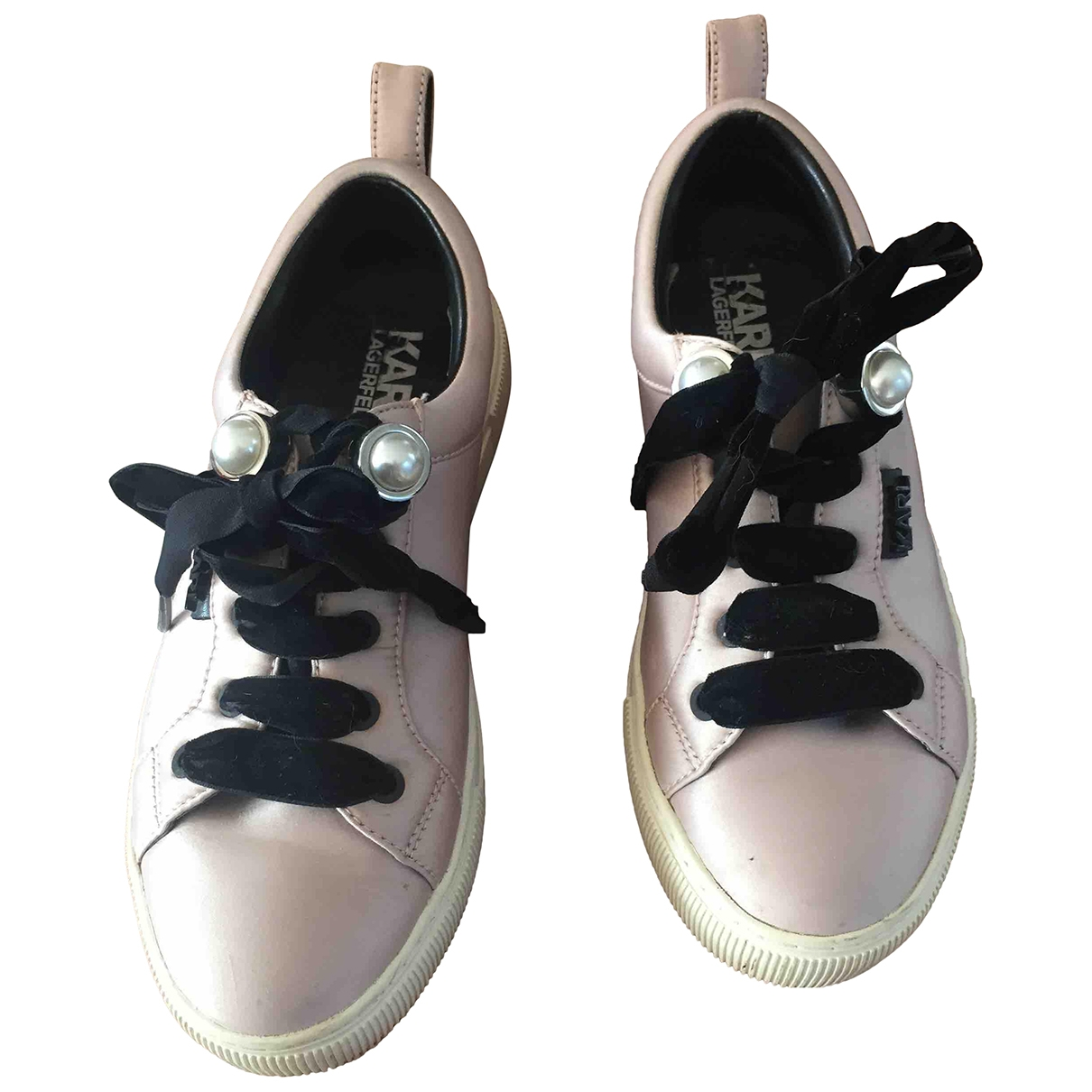 Karl Lagerfeld \N Pink Cloth Trainers for Women 37 EU