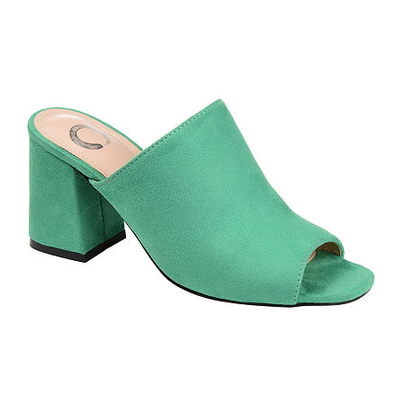 Journee Collection Womens Adelaide Slide Sandals, 11 Medium, Green