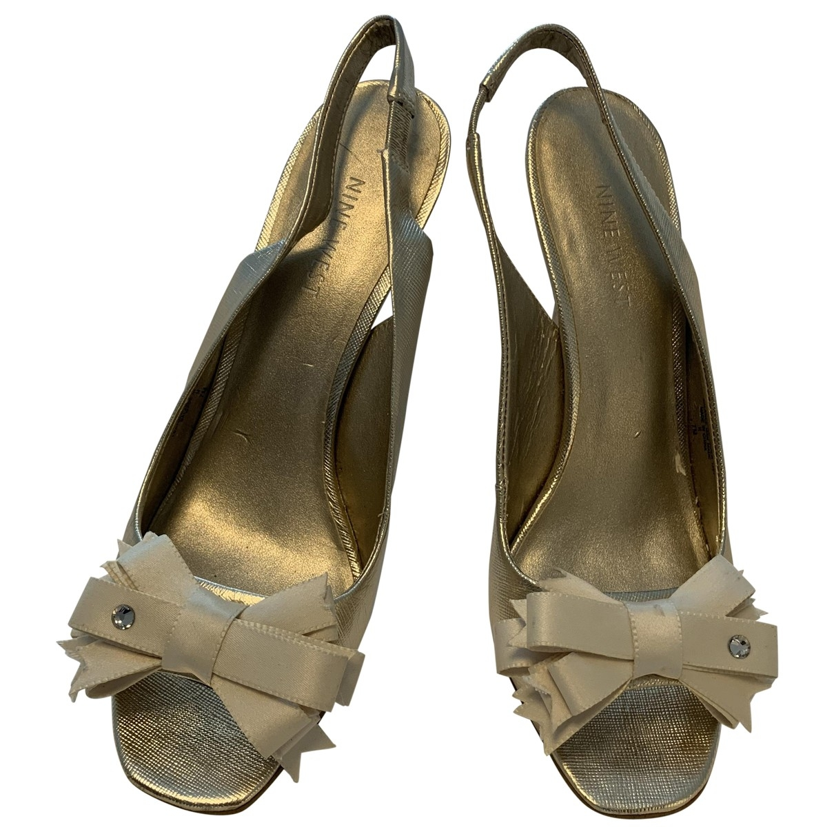 Nine West \N Gold Leather Sandals for Women 7 US