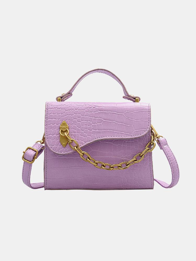 Women Chains Alligator Crossbody Bag Handbag Crossbody Bag Satchel Bag