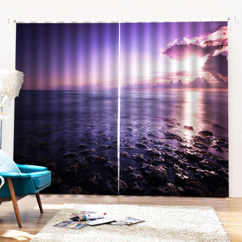 Beddinginn Decoration 3D Sea Modern Curtains/Window Screens