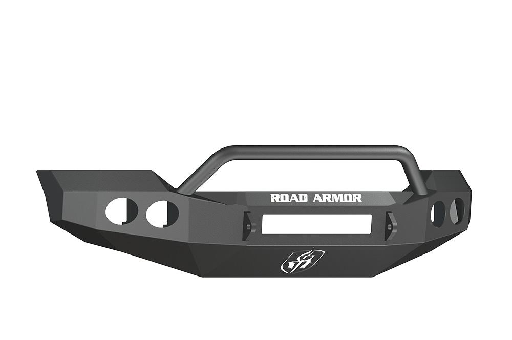 FORD Front Non-Winch Bumper Round Light Ports F-250,F-350,F-450 SUPER DUTY 11-15 BLACK Pre-Runner Guard Road Armor 61104B-NW Stealth Series