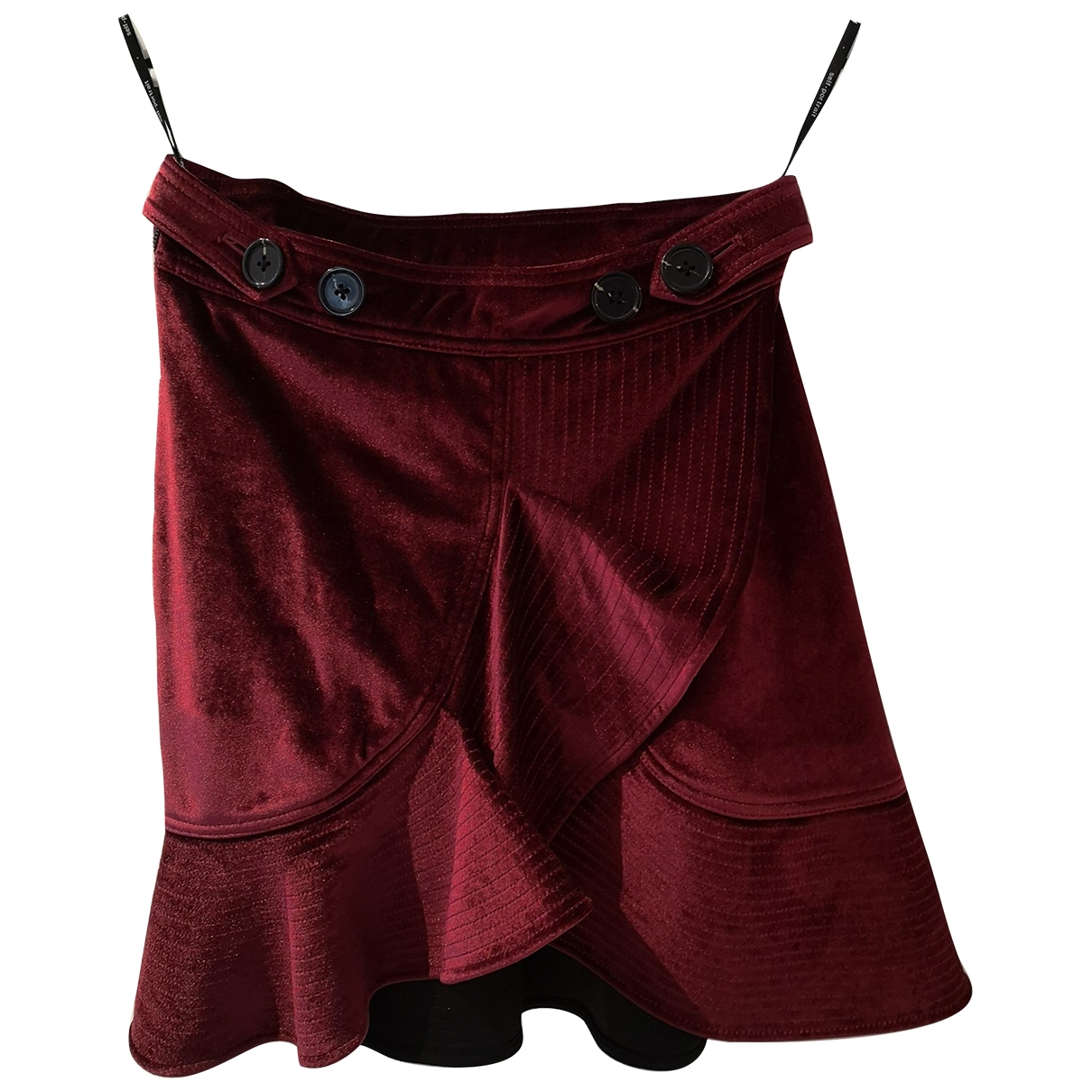 Self Portrait \N Burgundy Velvet skirt for Women S International