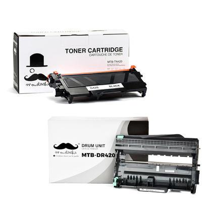 Brother TN420 DR420 cartouche de toner et tambour compatible combo - Moustache®