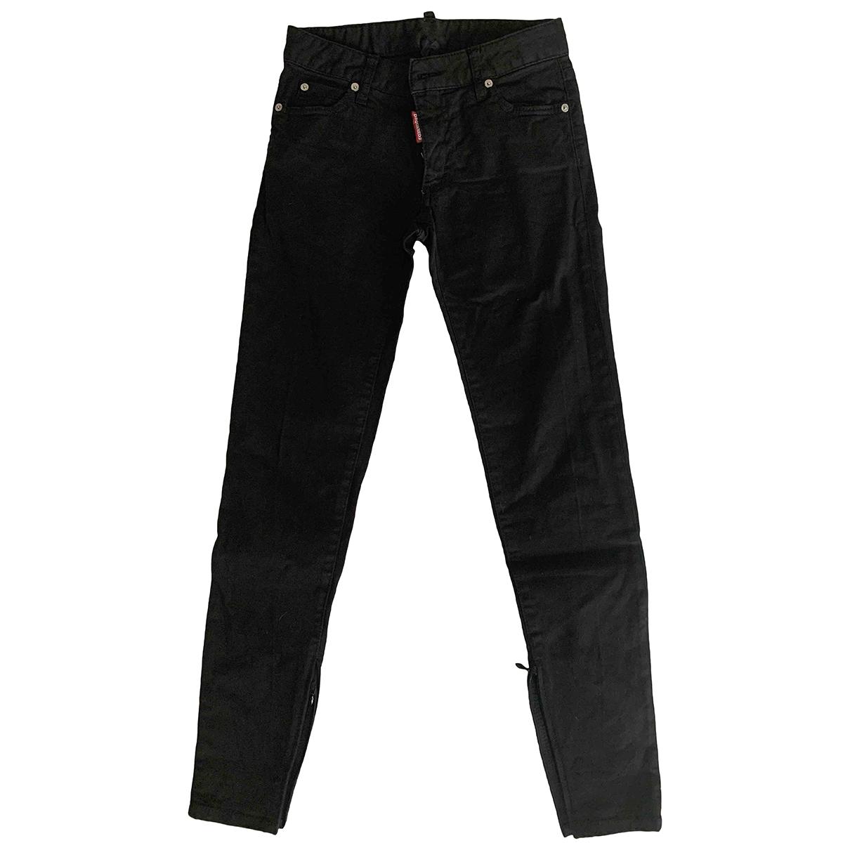 Dsquared2 \N Black Cotton Jeans for Women 36 FR