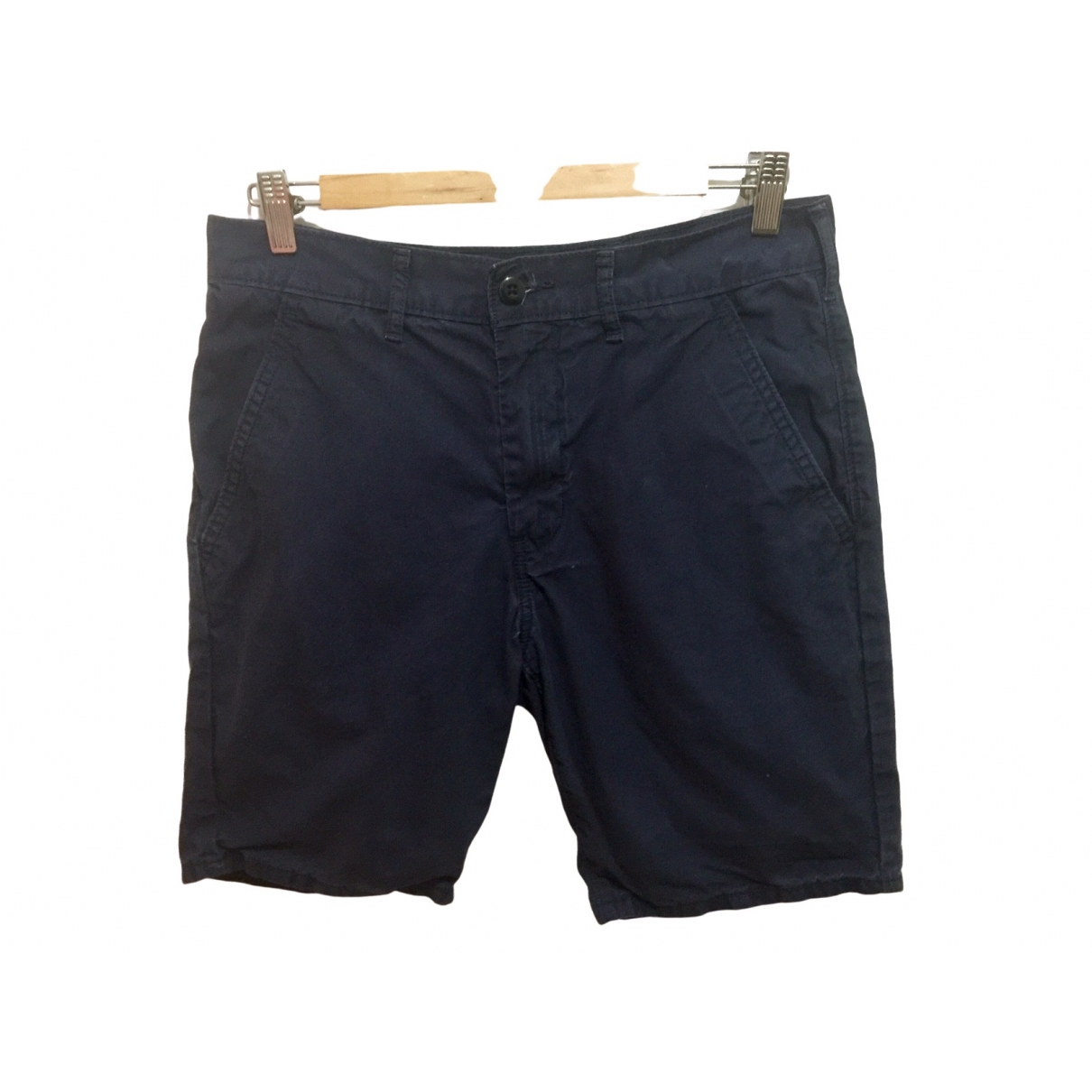 Levi's \N Navy Cotton Shorts for Women 12 UK