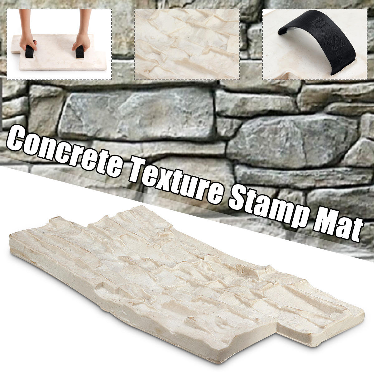 Slate Seamless Texture Polyurethane Stamp Mat Concrete Cement Stone Wall Mat Cement Brick Mold