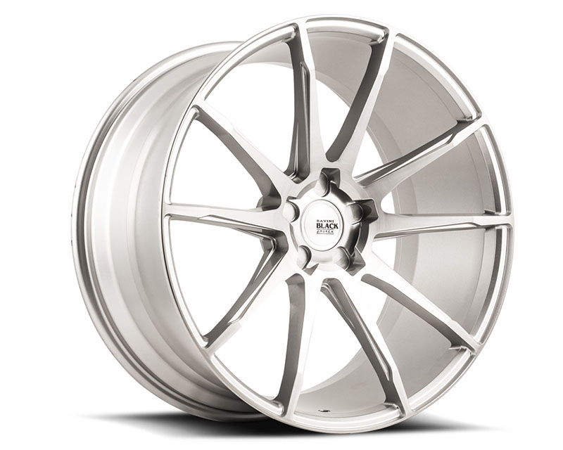 Savini BM12-22105512R2079 di Forza Brushed Silver BM12 Wheel 22x10.5 5x112 20mm