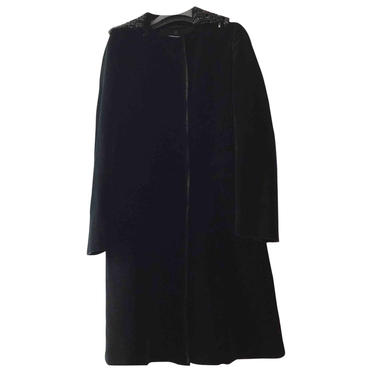 Prada \N Black Velvet coat for Women 44 IT